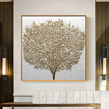 Golden Tree Wall Decorative Canvas for Living Room - Best Room Tapestry