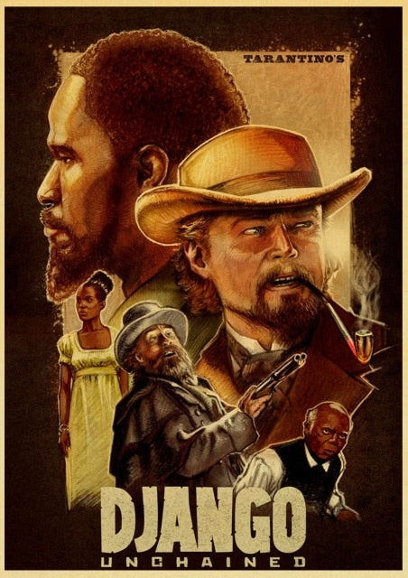 Quentin Tarantino series movie django unchained poster kraft paper print wall art painting vintage poster home decor - Best Room Tapestry