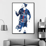 Zlatan Ibrahimovic Soccer Football Star Sports Canvas Poster Wall Art for Kids Decor or Home Decor or Wall Decor Canvas - Best Room Tapestry