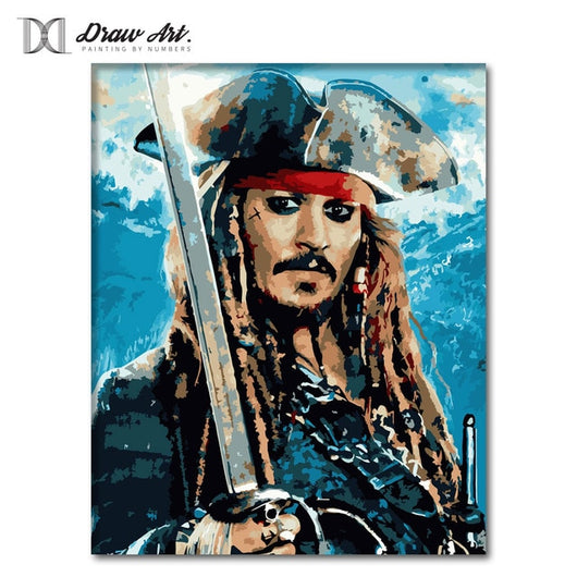 Jack Sparrow Digital Oil Painting Home Decoration Pirates of the Caribbean Canvas - Best Room Tapestry