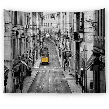 3D City Street Tapestry - Best Room Tapestry