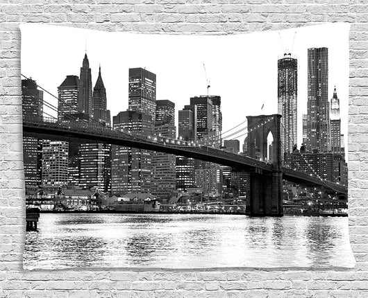 Brooklyn Bridge with Manhattan Tapestry - Best Room Tapestry
