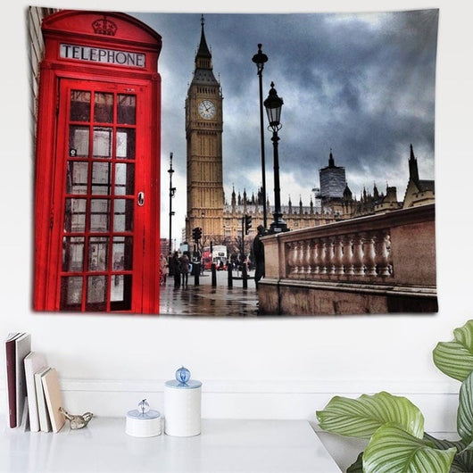 London Clock Tower Tapestry - Best Room Tapestry