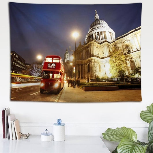 Dashing London Street Tapestry - Best Room Tapestry