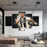 Famous Poster Cristiano Ronaldo Posters 5 Pieces Wall Canvas Football Sports Wall Art for Kids Room Home Decor - Best Room Tapestry