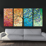 Colourful Leaf Trees Wall Art Canvas Painting For Living Room or Home Decor - Best Room Tapestry
