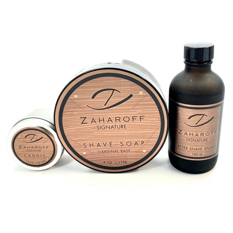 Zaharoff Signature Pour Homme EDP 4oz + Shave Soap + After Shave Splash SET