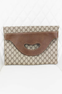 Gucci Vintage Supreme Canvas Clutch
