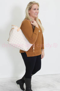 Louis Vuitton Damier Azur w Pink Interior Neverfull MM