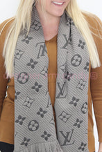 Load image into Gallery viewer, Louis Vuitton Reversible Grey Scarf