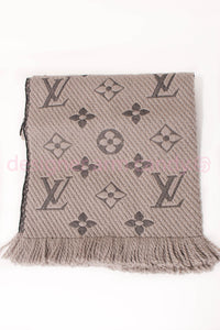 Louis Vuitton Reversible Grey Scarf