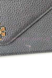 Tory Burch Black Pebbled Leather Shoulder Bag