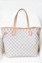 Load image into Gallery viewer, Louis Vuitton Damier Azur w Pink Interior Neverfull MM