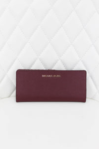 Michael Kors Burgundy Linear Wallet