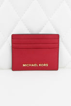 Load image into Gallery viewer, Michael Kors Red Slim Card Holder