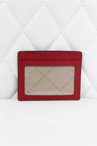 Michael Kors Red Slim Card Holder
