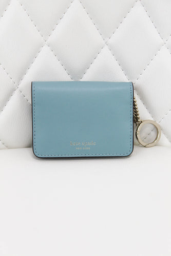 Kate Spade Mint Card Holder with Key Chain