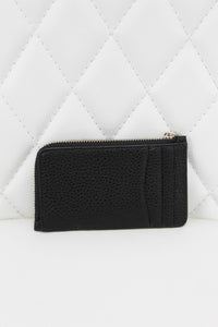 Kate Spade Pebble Leather Bow Card Key Pouch Black