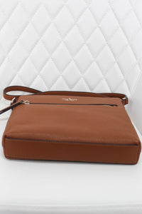 Kate Spade Pebble Leather Tan Double Zip Crossbody