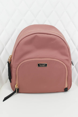Kate Spade Rose Gold and Blush Nylon Backpack