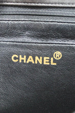 Load image into Gallery viewer, Chanel Black Lambskin Knotted Chain Flap