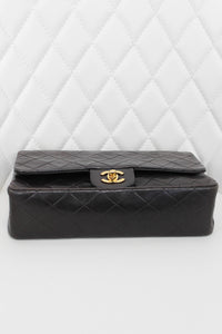 Chanel Vintage Lambskin Double Flap Dark Brown