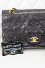 Load image into Gallery viewer, Chanel Vintage Lambskin Double Flap Dark Brown