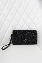 Load image into Gallery viewer, Kate Spade Black Glitter Wristlet