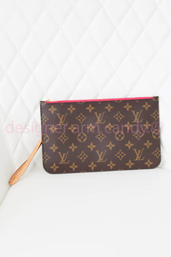 Louis Vuitton Monogram Neverfull Wristlet w/ Pink Interior