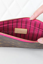 Load image into Gallery viewer, Louis Vuitton Monogram Neverfull Wristlet w/ Pink Interior