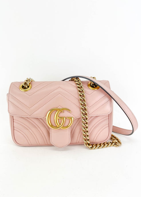 Gucci LIMITED EDITION Pink Marmont Small Flap