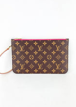 Load image into Gallery viewer, Louis Vuitton Monogram Neverfull Pochette w/ Pink