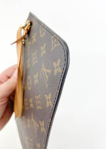 Louis Vuitton Monogram Neverfull Pochette w/ Beige