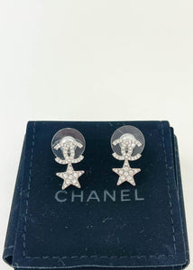 Chanel CC Star Stud Earrings