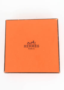 Hermes White and Gold Clic H Bracelet