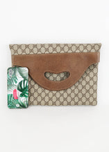 Load image into Gallery viewer, Gucci Vintage Supreme Canvas Clutch