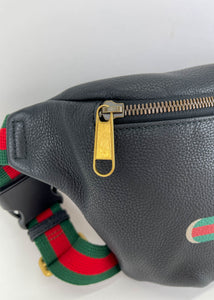 Gucci Black Leather Large Bumbag