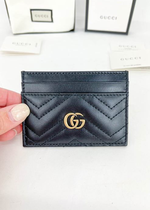 Gucci Black Marmont Card Holder
