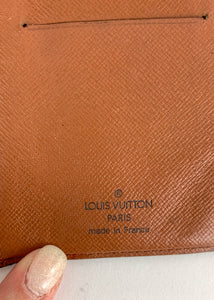 Louis Vuitton Monogram Checkbook Wallet