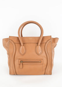 Celine Leather Cognac Mini Luggage