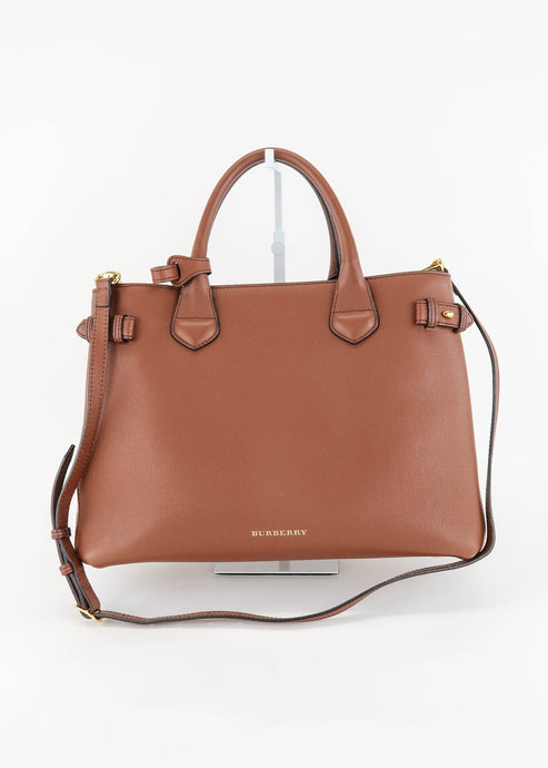Burberry Brown & Plaid Satchel