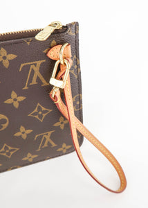 *BUNDLE* Louis Vuitton Monogram w/ Beige Neverfull Pochette & Felicie Insert