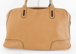 Gucci Tan Leather Satchel
