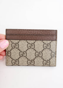 Gucci Ophidia Supreme Canvas Card Holder