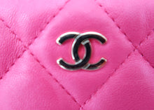 Load image into Gallery viewer, Chanel Lambskin Hot Pink Clutch