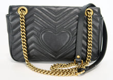 Load image into Gallery viewer, Gucci Black Marmont Small Flap