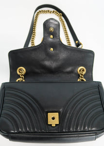 Gucci Black Marmont Small Flap