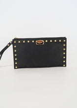 Load image into Gallery viewer, Michael Kors Sandrine Stud Large Wristlet Black