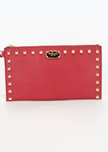 Load image into Gallery viewer, Michael Kors Sandrine Stud Large Wristlet Burgundy