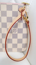 Load image into Gallery viewer, Louis Vuitton Damier Azur Neverfull Pouch w/ Pink Interior